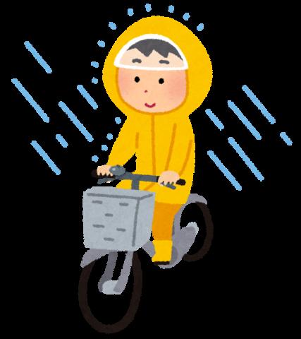 雨の日のポスティング